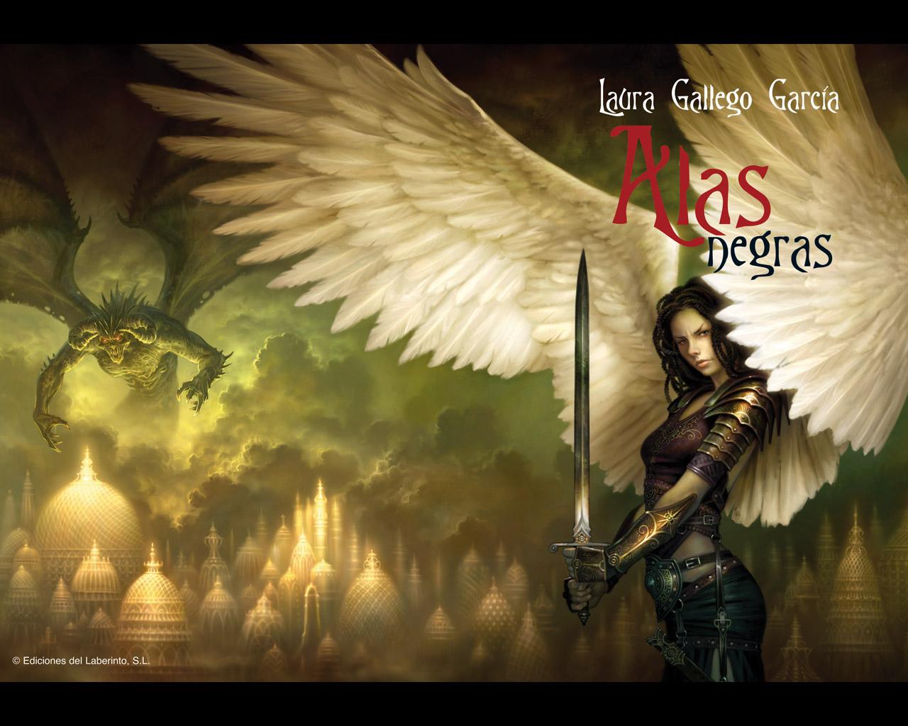 Alas negras, portada, contraportada, Laura Gallego, ángel